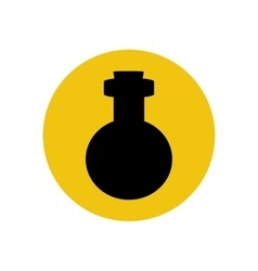 Bottle silhouette vector image