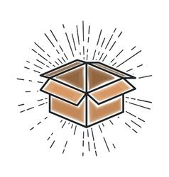 box carton packing isolated icon vector image