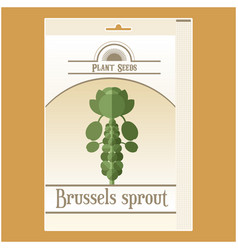 Brussels sprout seed pack vector