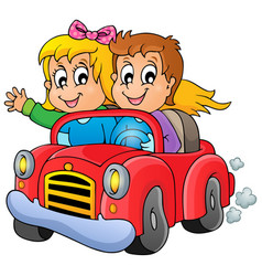 car theme image 1 vector image
