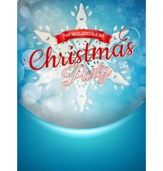 Christmas background and snowflakes EPS 10 vector image
