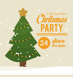 christmas part invitation card vector image