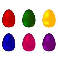 collection of colorful colored eggs vector image