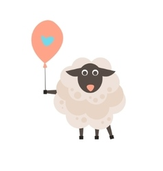 Cute sheep with a sign for text vector image