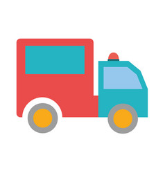 delivery truck vehicle transport isolated icon vector image