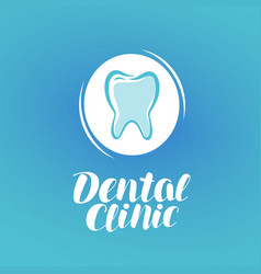 Dental clinic logo dentistry tooth medicine vector