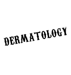 Dermatology rubber stamp vector image