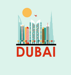 dubai travel background vector image