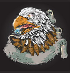 eagle shock vector image