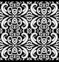 Embroidery seamless pattern vector