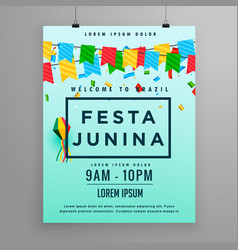 Festival poster for festa junina vector