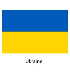Flag of the country ukraine vector image