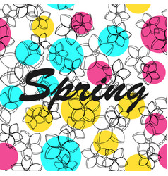Floral pattern background spring vector