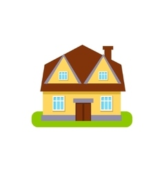 Four Window Suburban House Exterior Design vector