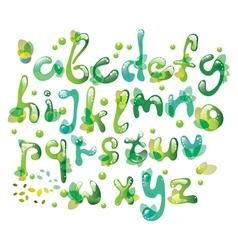 green natural ABC vector image