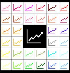 growing bars graphic sign felt-pen 33 vector image