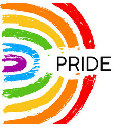 hand draw lgbt pride with rainbow vector image