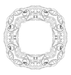 Hand drawn ornamental mandala for coloring vector