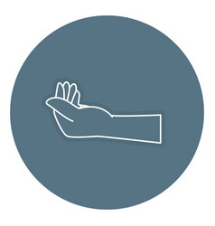 Hand human isolated icon n vector