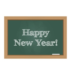 Happy new year message on chalkboard vector