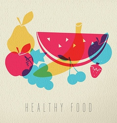 Healthy food diet fruit concept icon color design vector image