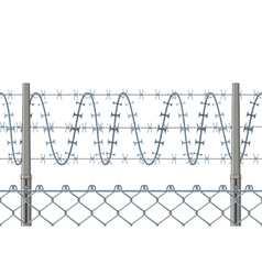 Highly detailed prison or refugee camp fence vector