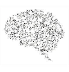 Human brains vector