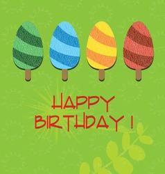 Ice cream happy birthday vector