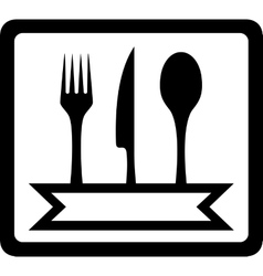 icon with utensils for restaurant foods vector image