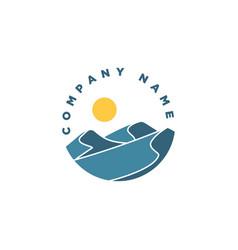 landscape logo vector image