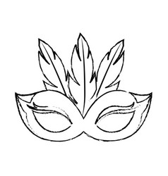 Mask feathers cute vector