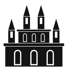 Medieval castle icon simple style vector