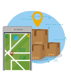 mobile order delivery vector image