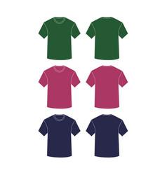 mockup shirts plain short vector image