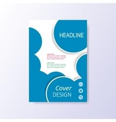 modern blue brochure design template vector image