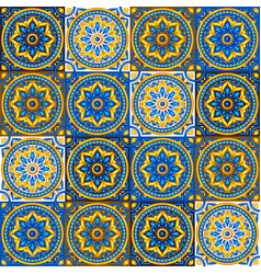 moroccan ceramic tile seamless pattern vector image