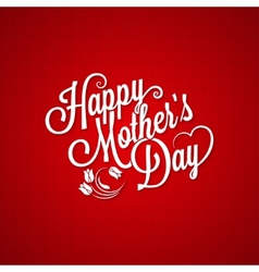 mothers day vintage lettering background vector image