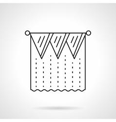 Pelmet curtain flat line icon vector image