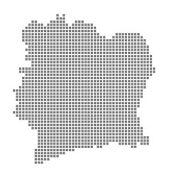 Pixel map of ivory coast dotted map of ivory vector