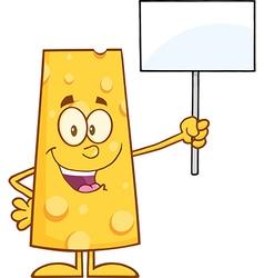 Protesting Cheese Cartoon vector image