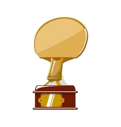 Racket ping pong trophy sport icon graphic vector