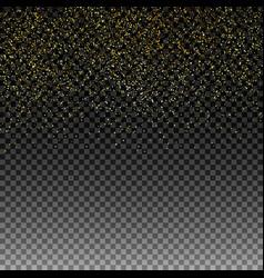 rain golden golden glitter vector image