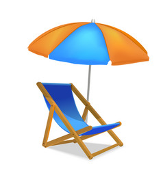 realistic detailed 3d sun bed chair vector image