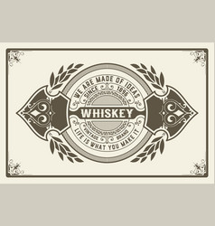 Retro logo for whiskey or other products vector