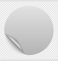 round paper sticker template vector image