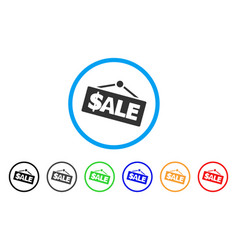 sale signboard rounded icon vector image