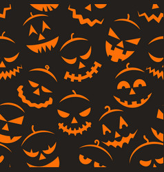 Scary halloween pattern vector