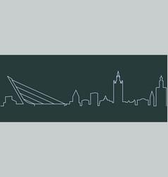 Seville single line skyline vector