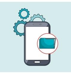 smartphone gears apps vector image