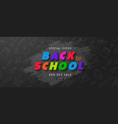 special offer back to school sale advertising vector image